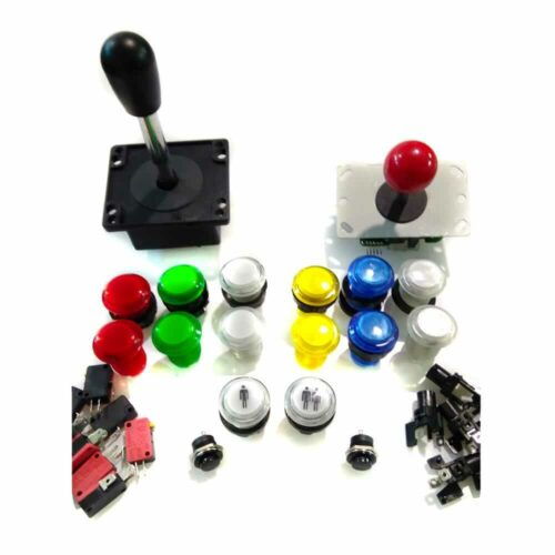 Arcade controls kit for 2 players. 24 or 30mm lighted.