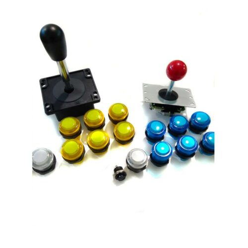 Arcade controls kit for 2 players. 28mm lighted