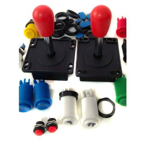 Kit controles arcade para 2 jugadores. Estilo americano