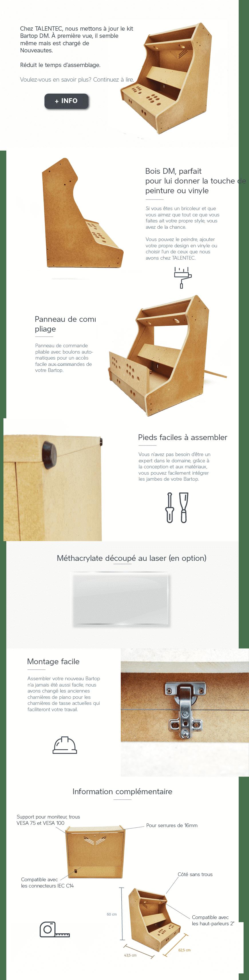 """frances - Configurez votre kit bartop de 24"""" - kits-bartop-fr"""