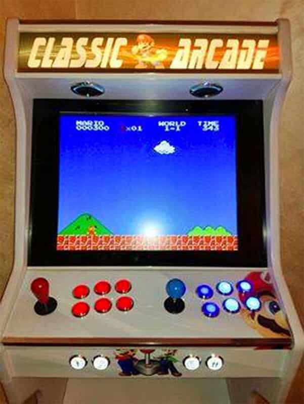 Arcade bartop + socle ouvert personalisée 19″