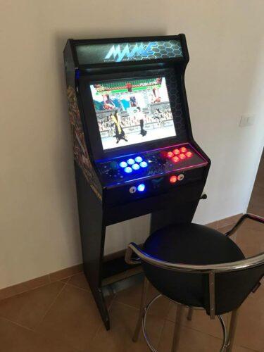 181021 Bartop pedestal PacMan 19 2 375x500 - Bartop MAME 19 and mini bartop Mortal Kombat; with stands -