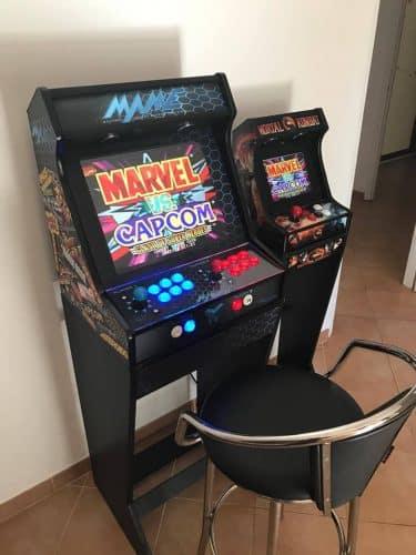 181021 Bartop pedestal PacMan 19 4 375x500 - Bartop MAME 19 y mini bartop Mortal Kombat; con pedestales -