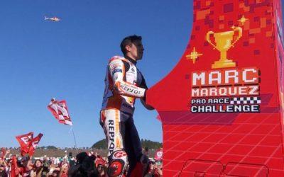 Marc Márquez celebró su 7º campeonato mundial echándose una partida