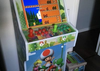 Bartop + Stand 19″ design personalized Super Mario