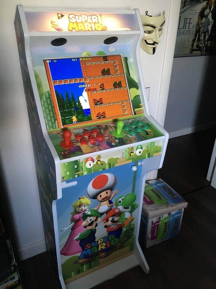 Bartop + Stand 19″ design personalized Super Mario