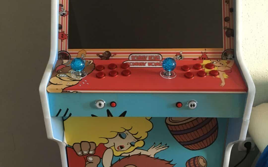Bartop + Piedistallo con disegno personalizzato di Donkey Kong