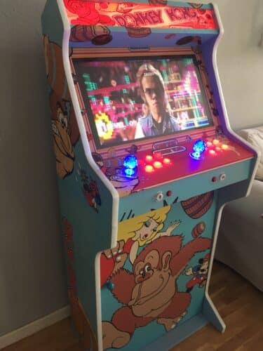 IMG 2670 375x500 - Bartop + Pedestal con diseño personalizado de Donkey Kong -