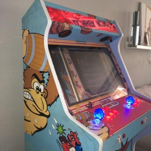 IMG 2676 500x500 - Bartop + Pedestal con diseño personalizado de Donkey Kong -