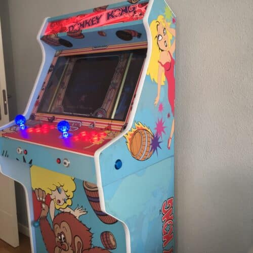 IMG 2677 500x500 - Bartop + Pedestal con diseño personalizado de Donkey Kong -