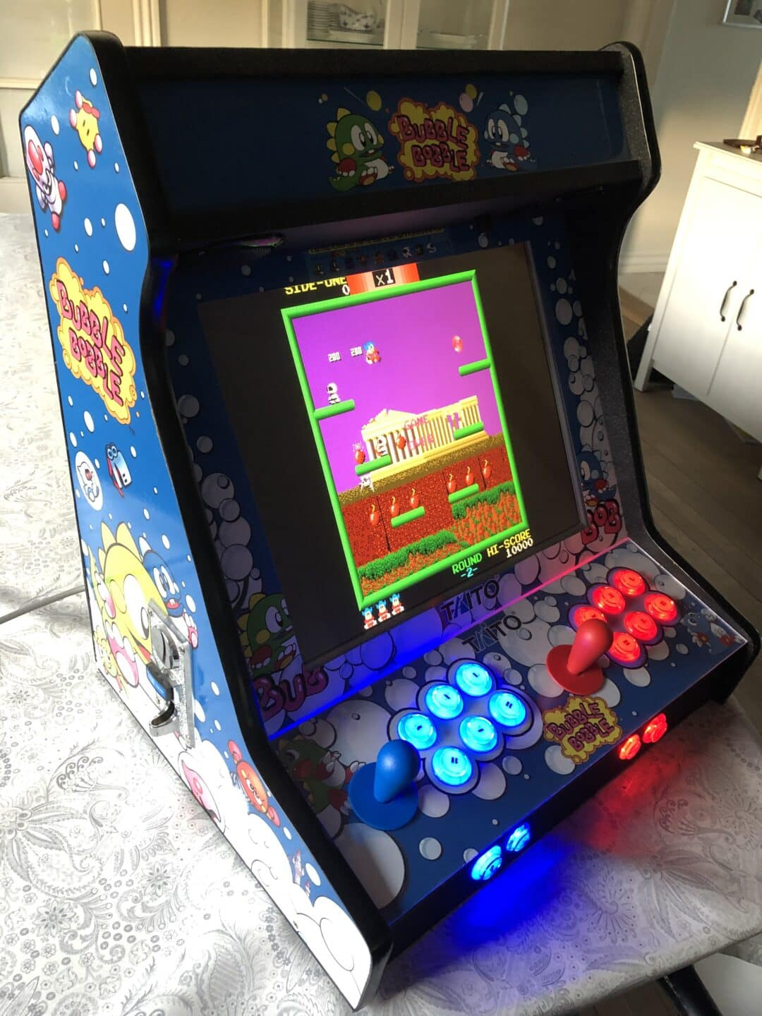Bartop avec Bubble Bobble design