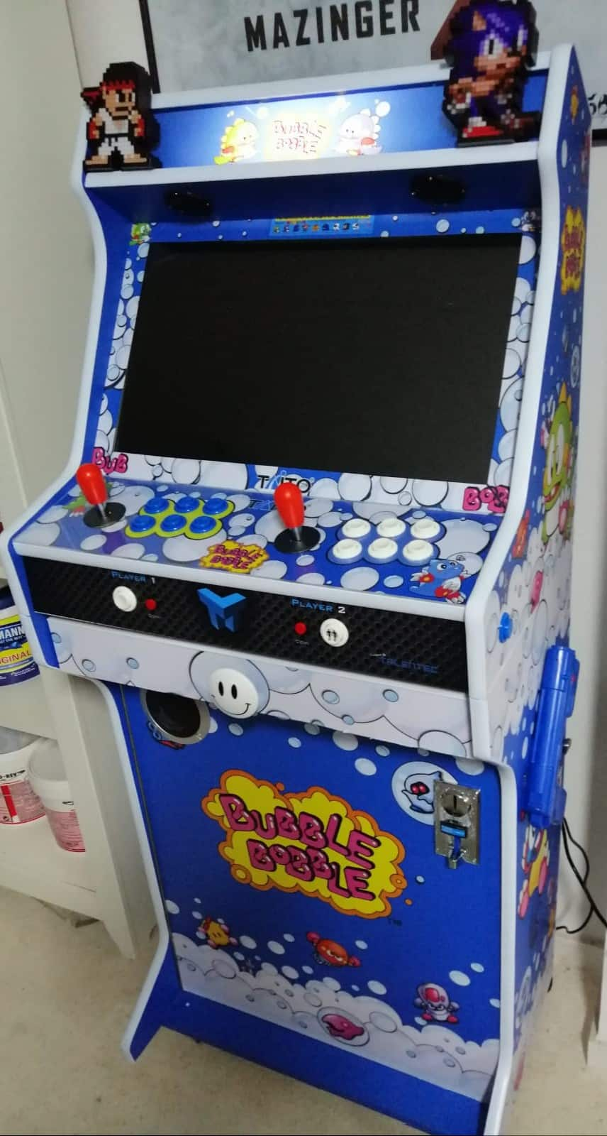 Bartop + Socle 24″ avec Bubble Bobble design