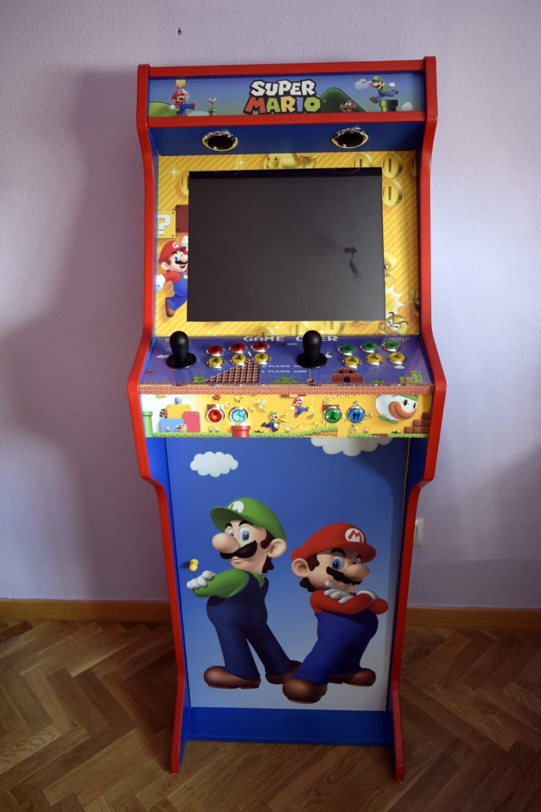 Bartop + Pedestal con diseño personalizado de Mario Bros