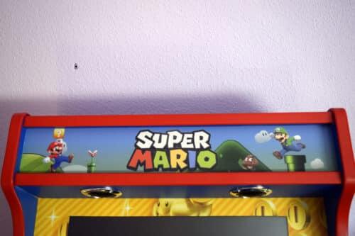 DSC0005 500x333 - Bartop + Piedistallo con design personalizzato di Mario Bros -