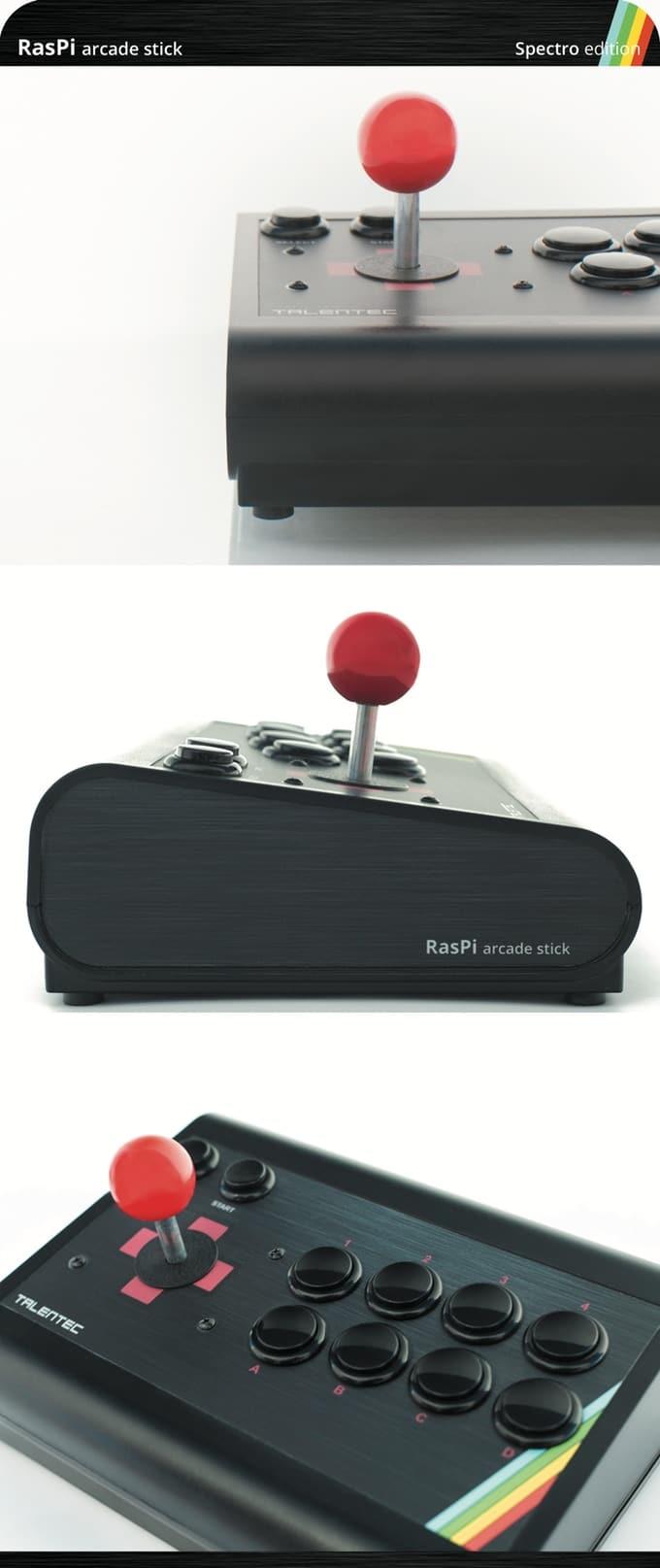 190502 TALENTEC RasPi arcade stick Spectro edition - RasPi Arcade Stick 64gb Pro - Spectro Edition - smart-arcade-stick-fr