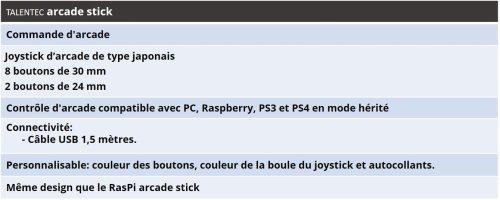 , RasPi arcade stick | L'arcade stick personnalisable et intelligent, Talentec