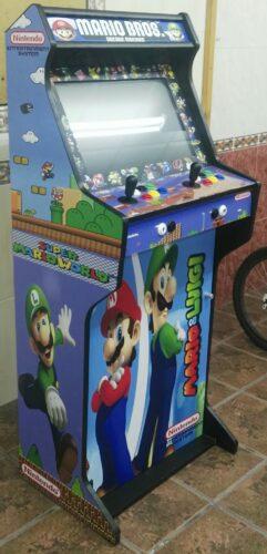 """Bartop y pedestal Mario Bros y Luigi 3 241x500 - Bartop 24"""" + stand with custom design -"""