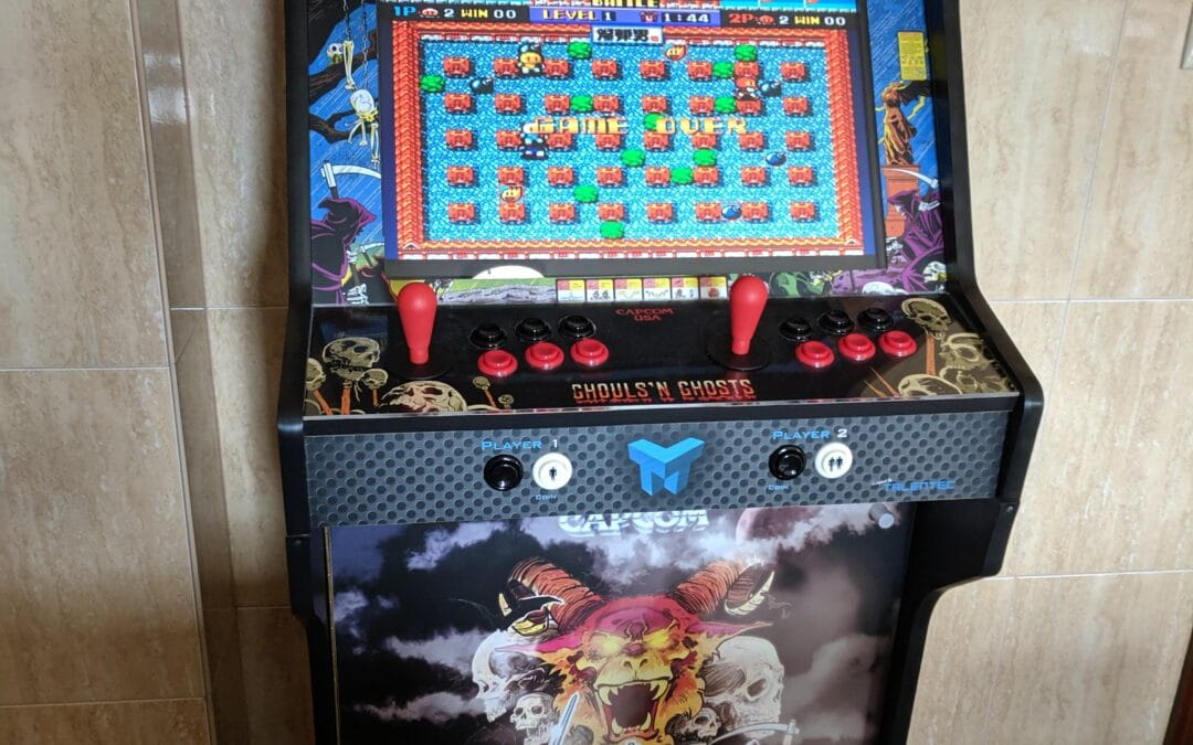 Bartop 24″ and stand with door and two shelves with Ghosts and Goblins design