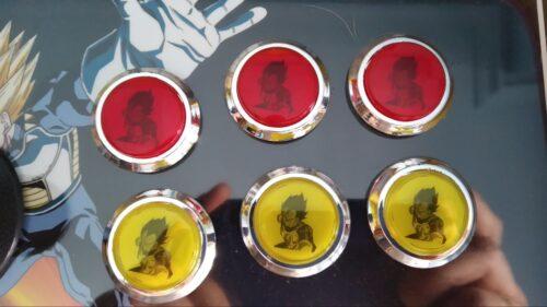 "Bartop pedestal dragon ball 2 500x281 - Bartop 24"" et socle avec vinyle personnalisé -"