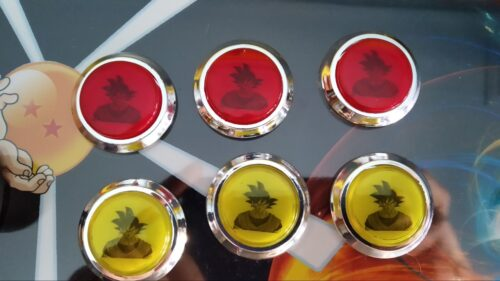 "Bartop pedestal dragon ball 4 500x281 - Bartop 24"" et socle avec vinyle personnalisé -"