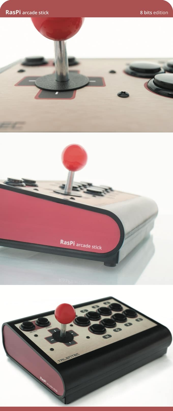 190502 TALENTEC RasPi arcade stick 8 bits edition