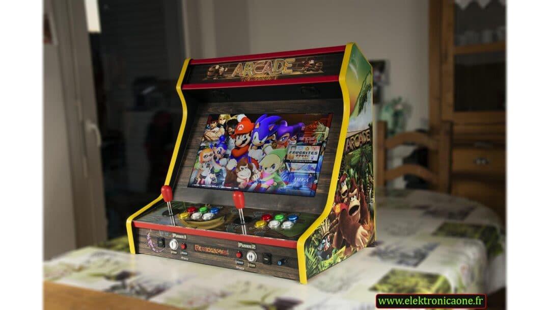 Bartop 24″ avec un design personnalisé de Donkey Kong Arcade