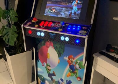 Bartop and stand 24″ with custom design Super Mario