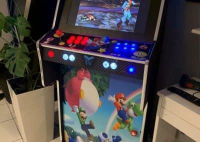 Bartop y Pedestal 24″ con diseño personalizado de Super Mario
