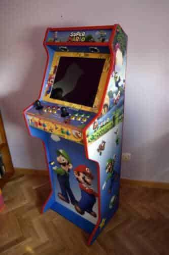 Bartop 19 con piedistallo e vinile personalizzato di Super Mario